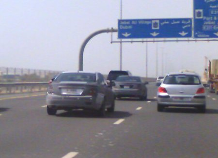 2008 Mercedes C-Class spy photo in Dubai