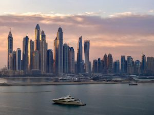 Photo of Dubai Marina taken at dawn