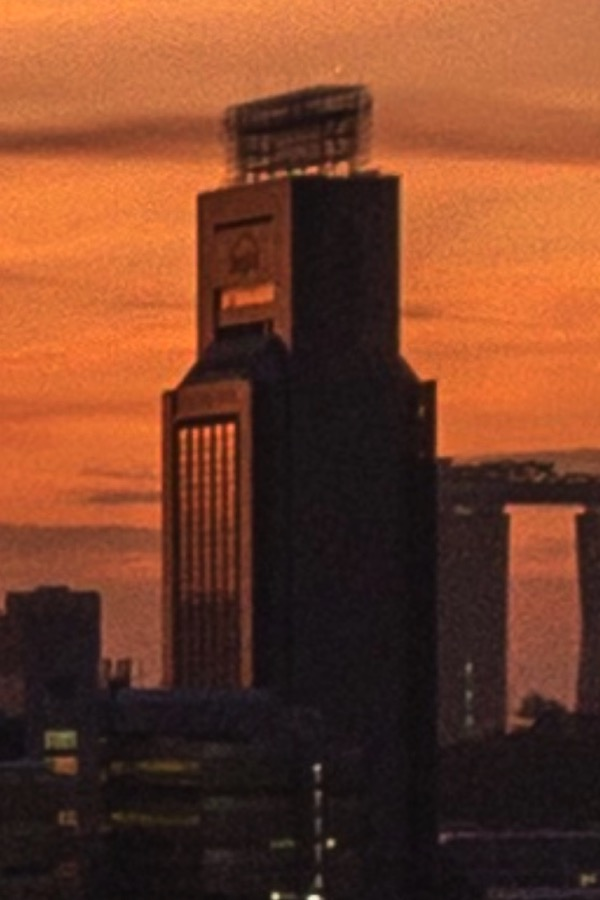 Crop of SingTel building captured with iPhone X