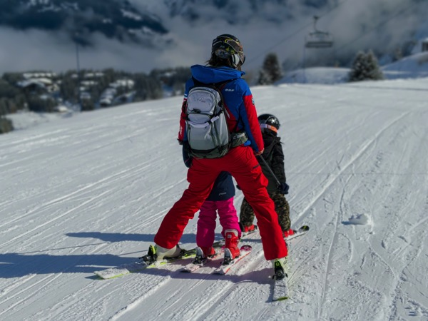 Courchevel Skiing Photo