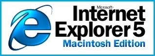 Internet Explorer 5 Macintosh Edition logo text