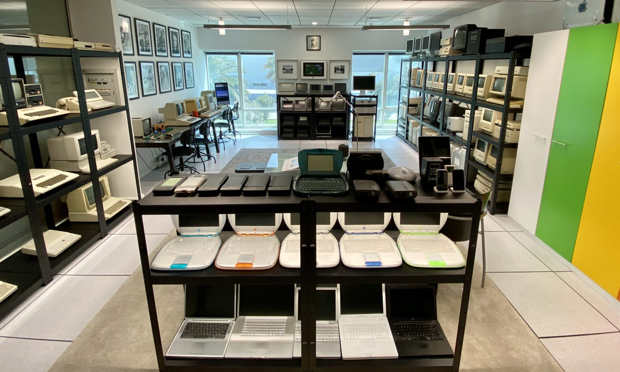 Overview photo of Jimmy Grewal's collection of vintage Apple computers